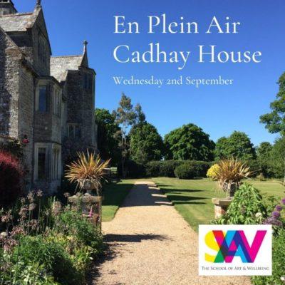 Cadhay Gardens painting
