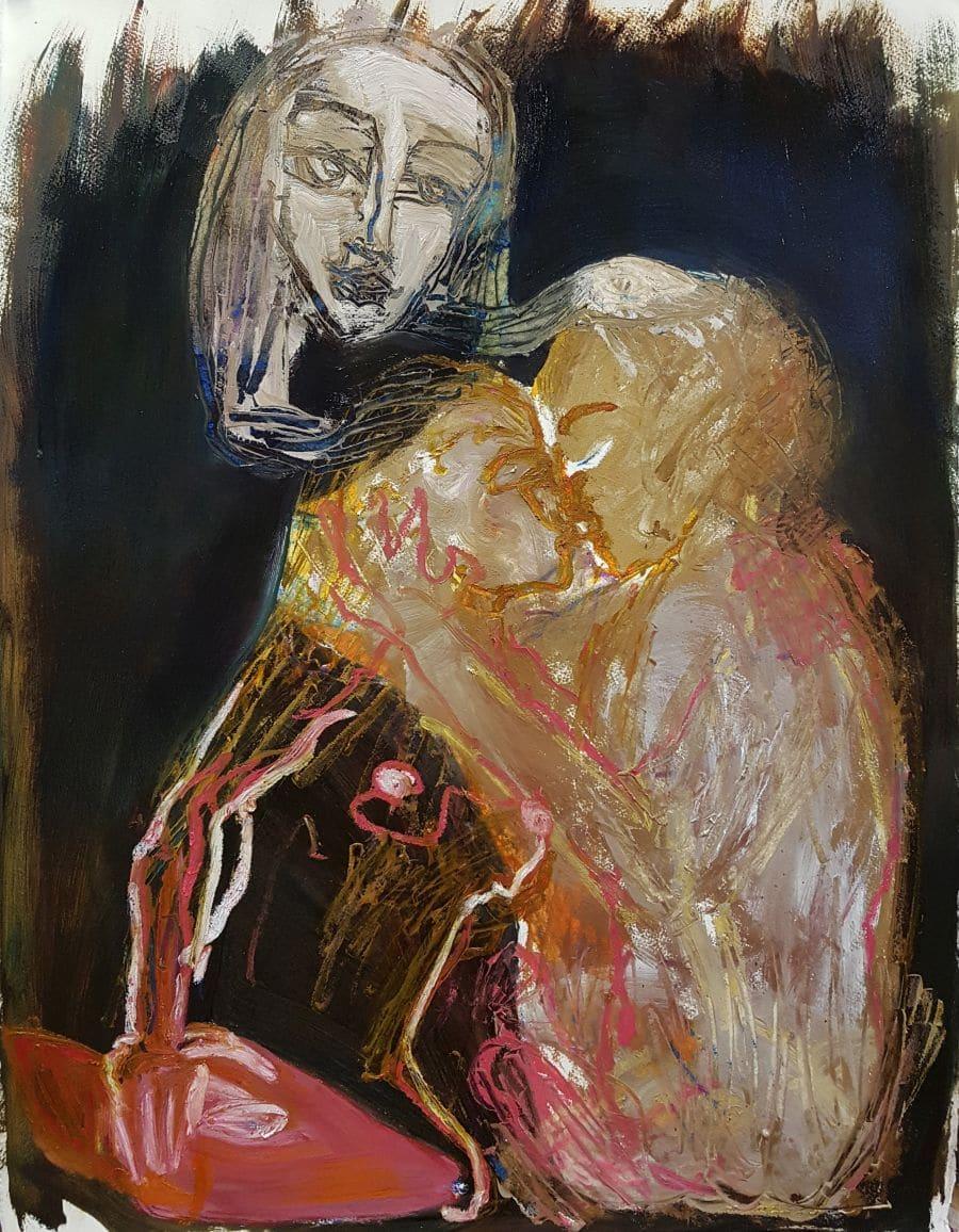 Venus brings blessings. Oil on paper. Kate Walters