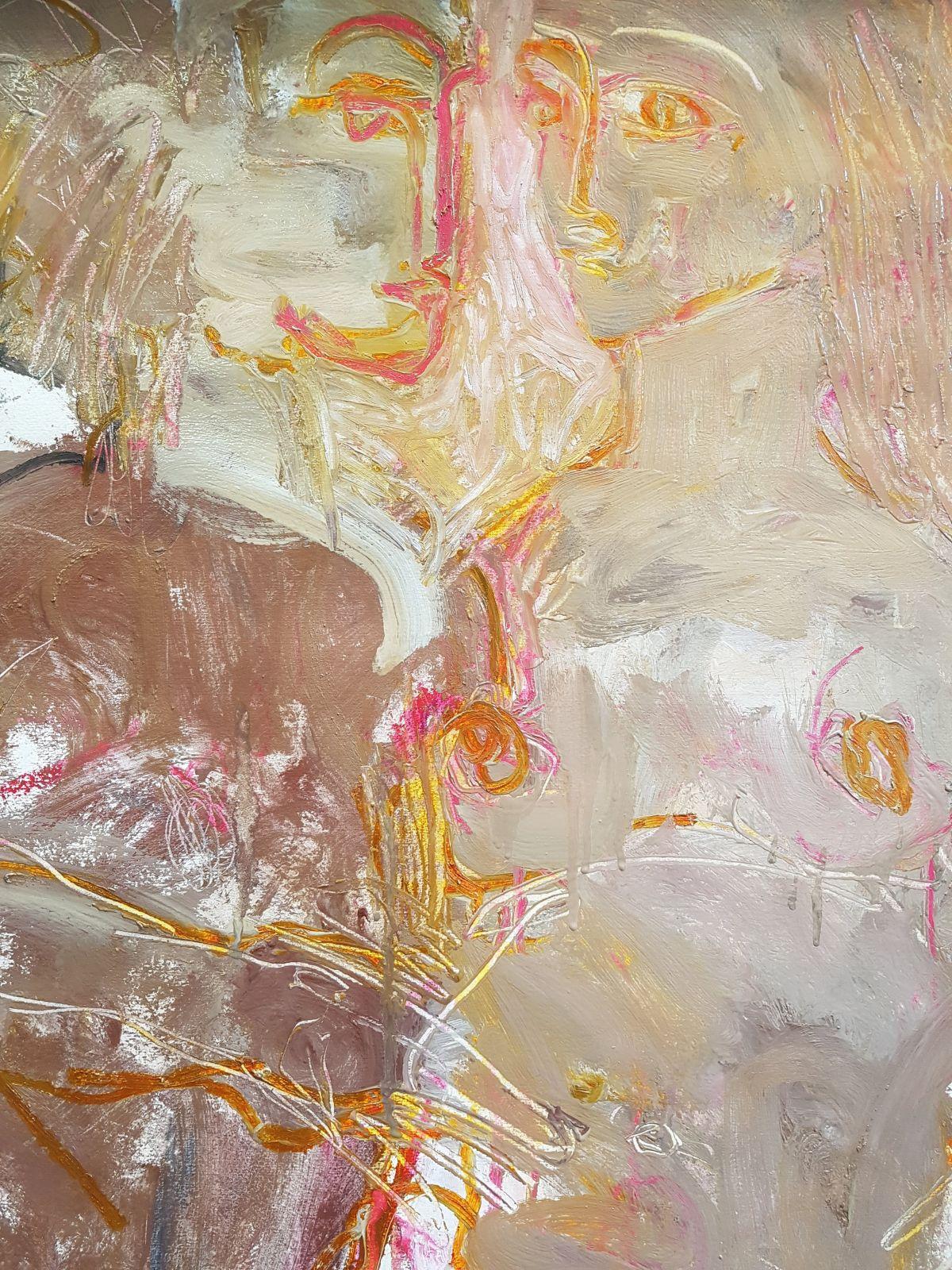 Detail, Lovers negotiating rapture. Kate Walters